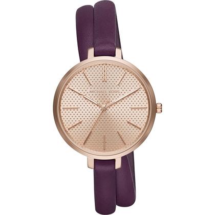 Michael Kors MK2576 Horlogeband Paars Leer