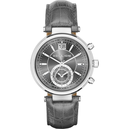 Michael Kors MK2432 Horlogeband Grijs Leer