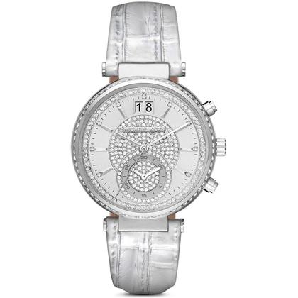 Michael Kors MK2443 Horlogeband Zilver Leer