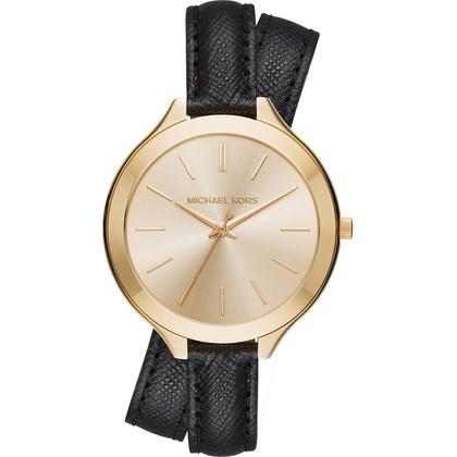Michael Kors MK2468 Horlogeband Zwart Leer