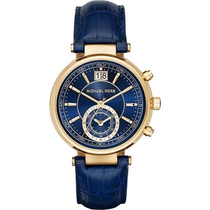 Michael Kors MK2425 Horlogeband Blauw Leer