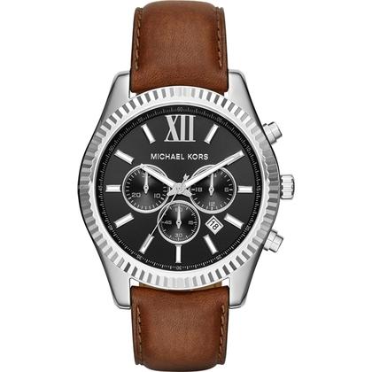 Michael Kors MK8456 Horlogeband Bruin Leer