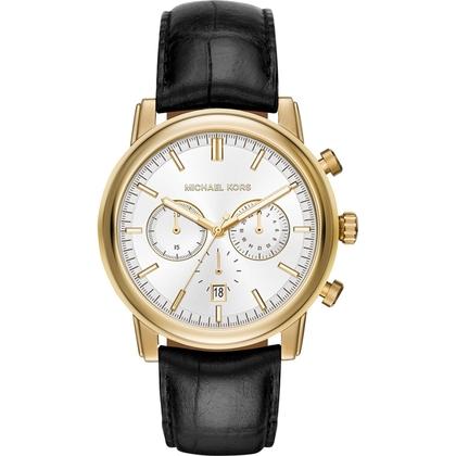 Michael Kors MK8458 Horlogeband Zwart Leer