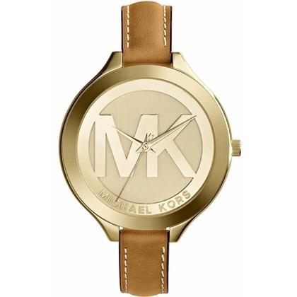 Michael Kors MK2326 Horlogeband Bruin Leer