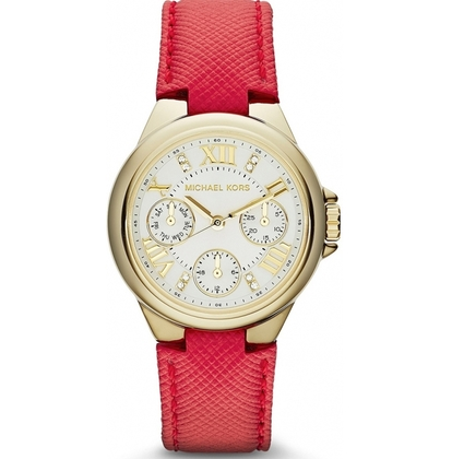 Michael Kors MK2321 Horlogeband Rood Leer