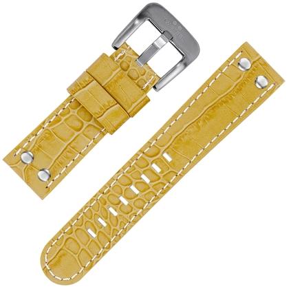 TW Steel Horlogeband Beige Kroko Kalfsleer 22mm