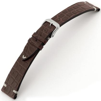 Rios Royal Horlogebandje Alligatorleer Mokka