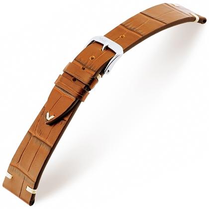 Rios Hollywood Horlogebandje Rundsleer Cognac