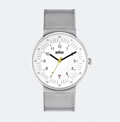 Braun BN0082WHSLMHG horlogeband Zilver Mesh (Milanese)