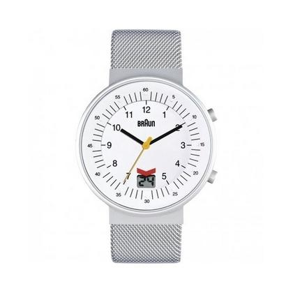 Braun BN0087WHSLMHG horlogeband Zilver Mesh (Milanese)
