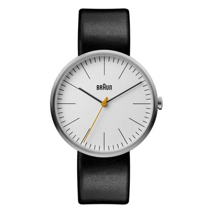Braun BN0173WHBKG Horlogeband Zwart Leer