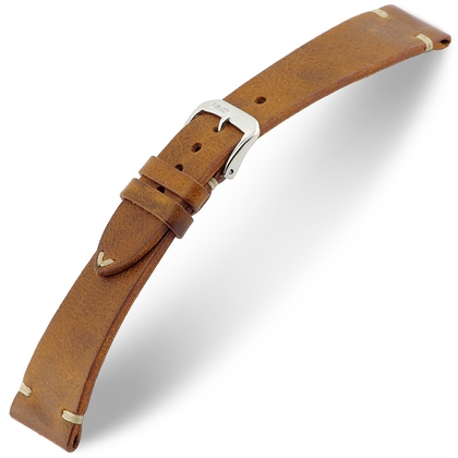 Rios Bedford Horlogebandje Vintage Leer Cognac