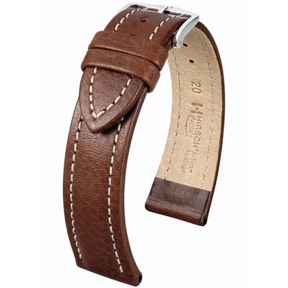 Hirsch Buffalo Artisan Horlogebandje Bruin