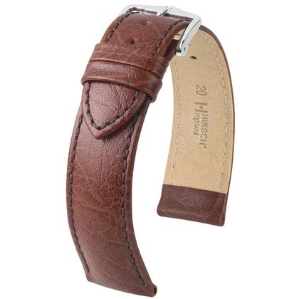Hirsch Highland Horlogebandje Italiaans Kalfsleer Bruin