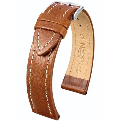 Hirsch Buffalo Artisan Horlogebandje Goudbruin