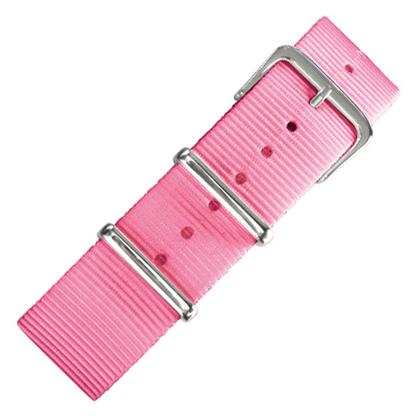 Roze NATO Nylon Horlogebandje - 20mm