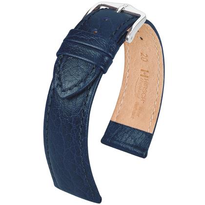 Hirsch Highland Horlogebandje Italiaans Kalfsleer Blauw
