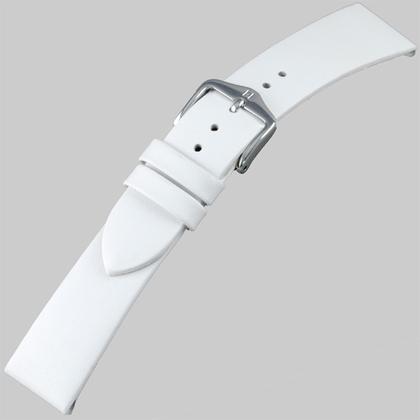 Hirsch Italocalf Nappa Leer Horlogebandje Wit