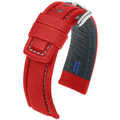 Hirsch Freestyle Horlogebandje High-Tech Textile 100m WR Rood