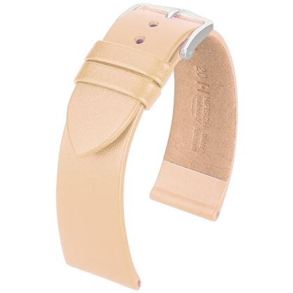 Hirsch Fashion Italiaans Nappa Kalfsleer Horlogebandje Nude