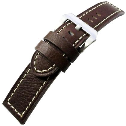 Vintage Horlogebandje Lenzers Leer Bruin