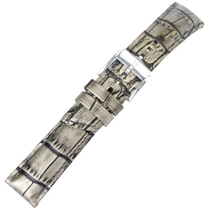 Hirsch Princess Pretiosa Horlogebandje Alligatorgrain Zilver
