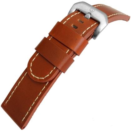 Zadelleer Horlogebandje Lenzers Cognac 22mm