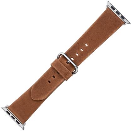 Apple Watch Horlogeband Cognac Vintage Leer