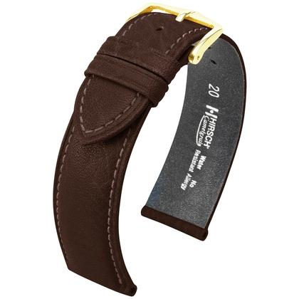 Hirsch Camelgrain Horlogebandje Pro Skin Antiallergisch Bruin
