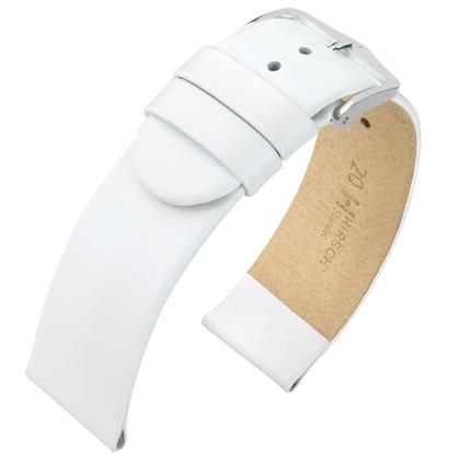 Hirsch Scandic Horlogebandje Wit Kalfsleer