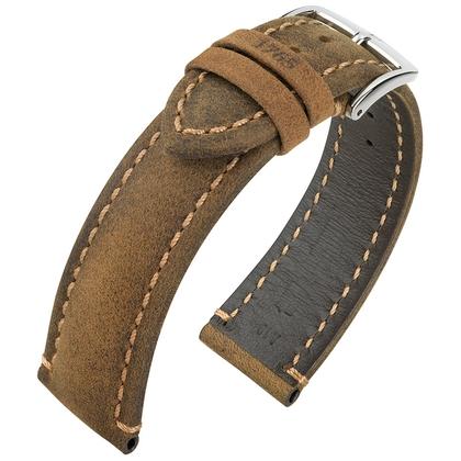 Hirsch Heritage 1765 Artisan Horlogebandje Bruin