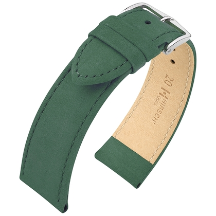 Hirsch Osiris Nubuck Horlogebandje Kalfsleer Green - Limited Edition