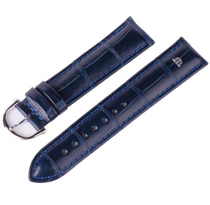 Maurice Lacroix Horlogeband Mississippi Alligator Donkerblauw 20mm