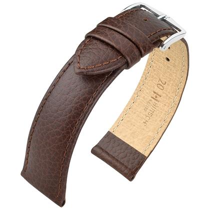 Hirsch Kansas Horlogebandje Buffelgrain Bruin