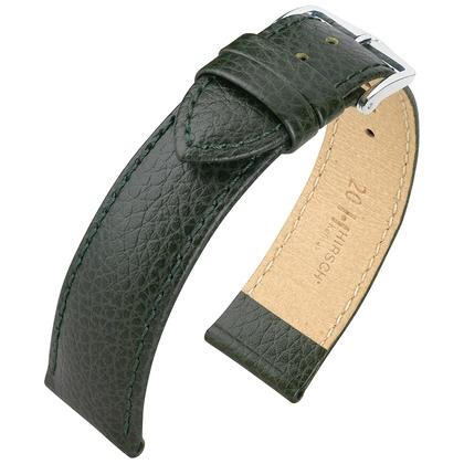 Hirsch Kansas Horlogebandje Buffelgrain Groen