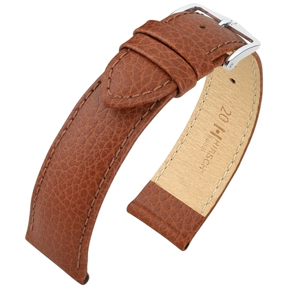 Hirsch Kansas Horlogebandje Buffelgrain Goudbruin