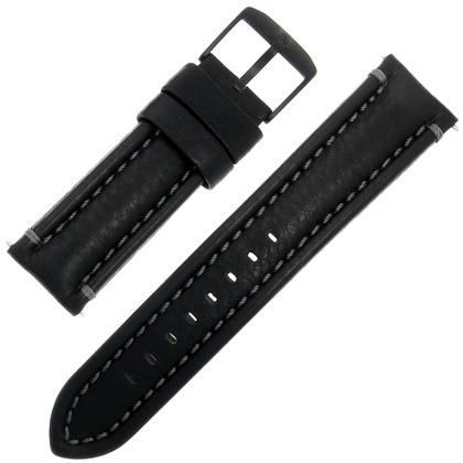 Luminox 6251.BO Modern Mariner Horlogeband Zwart Leer Grijs Stiksel - FE.6250.22B