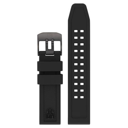 Luminox 7050 7060 Series Horlogeband Zwart Rubber 20mm - FP.7050.20B