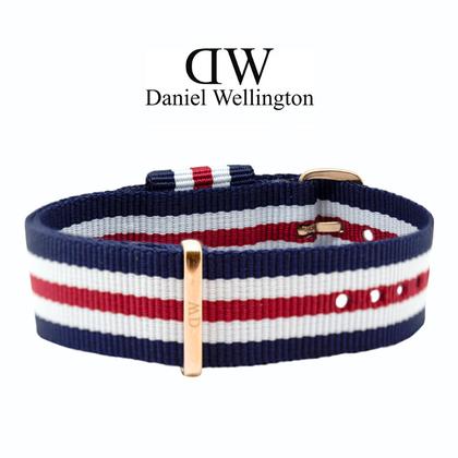 Daniel Wellington 18mm Classic Canterbury NATO Horlogebandje Rose Gouden Gesp