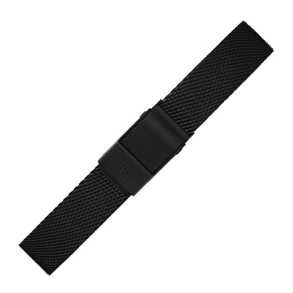 Daniel Wellington 12mm Petite Ashfield Mesh Horlogebandje Zwart