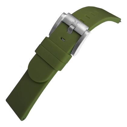 Marc Coblen / TW Steel Silicone Horlogeband Legergroen 22mm