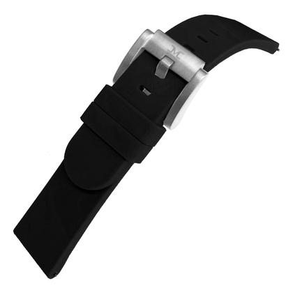 Marc Coblen / TW Steel Silicone Horlogeband Zwart 22mm