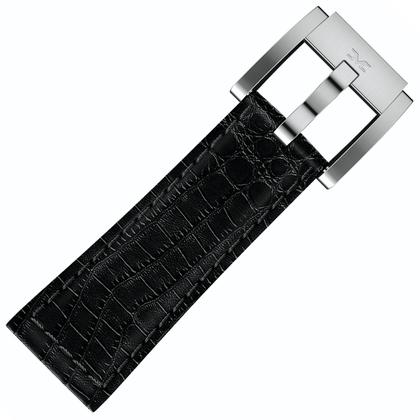Marc Coblen / TW Steel Horlogeband Zwart Leer Alligator 22mm
