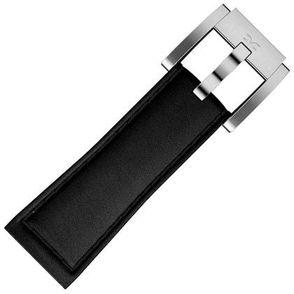Marc Coblen / TW Steel Horlogeband Zwart Leer Zwart Stiksel Glad 22mm