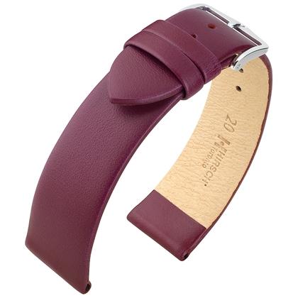 Hirsch Toronto Italiaans Kalfsleer Horlogebandje Berry