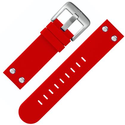 TW Steel Horlogebandje TW510 Rood Rubber Stalen Studs 22mm