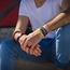 NIMA Atelier Seth Kalfslederen Armband met Vouwsluiting Zwart