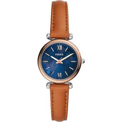 Fossil Carlie Mini ES4701 Horlogeband Bruin Leer