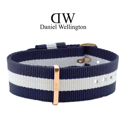 Daniel Wellington 20mm Classic Glasgow NATO Horlogebandje Rose Gouden Gesp