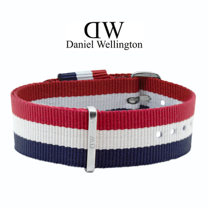Daniel Wellington 20mm Classic Cambridge NATO Horlogebandje RVS Gesp